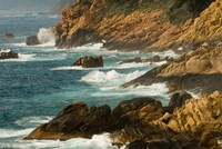 Coastline of Golfe de Porto, Porto, Corsica, France Fine Art Print