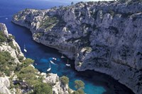 Limestone Cliffs,Provence, France Fine Art Print