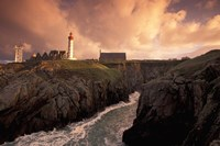 Pointe De St Mathieu Lighthouse at Dawn, Brittany, France Fine Art Print