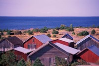 Boathouses of the Aland Islands, Finland Fine Art Print