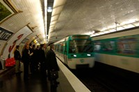 Commuters Inside Metro Station, Paris, France Fine Art Print
