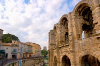 Roman Amphitheatre and Shops, Provence, France Fine Art Print