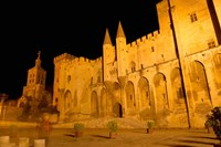 Papal Palace at Night, Avignon Fine Art Print