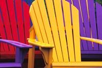 Colorful Adirondack Chairs Fine Art Print