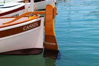 Traditional Boat with Wooden Rudder Fine Art Print
