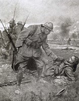 World War I, Battle of Champagne, France Fine Art Print