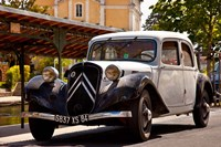 Classic Citroen Avante car, Provence, France Fine Art Print