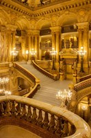 Grand Staircase Entry to Palais Garnier Opera House Fine Art Print