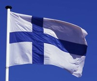 Finnish Flag, Finland Fine Art Print