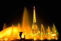 Fountain at the Eiffel Tower, Paris, France Fine Art Print