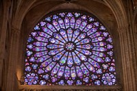 Interior of Notre Dame Cathedral, Paris, France Fine Art Print
