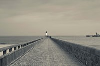 West Jetty in The Port of Calais Fine Art Print