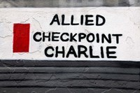 Checkpoint Charlie of the Berlin Wall Fine Art Print
