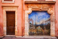 Painted Door in Roussillon, Provence, France Fine Art Print