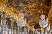 The Hall of Mirrors, Chateau de Versailles, France Fine Art Print