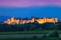 La Cite Carcassonne, Fortified Medieval Town Fine Art Print