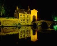 The Beguinage at Night, Bruges, Belgium Fine Art Print
