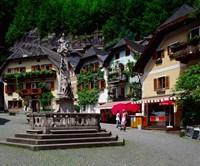 Village of Hallstatt, Salzkammergut, Austria Fine Art Print