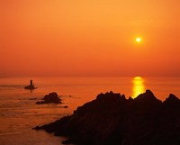 Pointe du Raz at Sunset, Brittany, France Fine Art Print