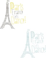 Paris France Let's Dance Fine Art Print