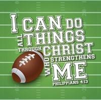 I Can Do All Sports - Football Framed Print
