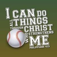 I Can Do All Sports - Baseball Framed Print