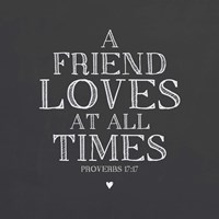 A Friend Loves At All Times Fine Art Print