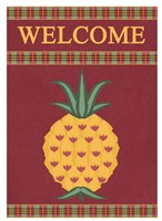 Plaid Pineapple Banner Fine Art Print