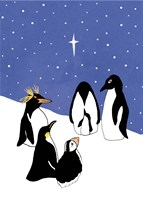 3 Wise Penguins Fine Art Print