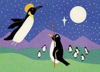 Herald Penguin Fine Art Print
