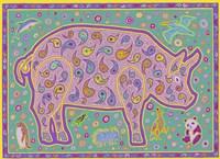 P Pig Fine Art Print