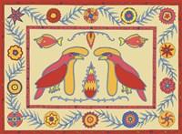 U Umbrella Birds Fine Art Print