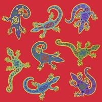8 Lizards Fine Art Print