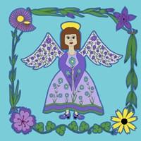 Flower Angel Framed Print