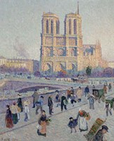 The Quai Saint-Michel And Notre-Dame, Paris 1901 Framed Print