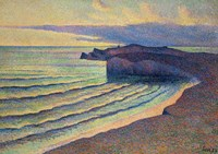 Seashore In Normandy, 1893 Fine Art Print
