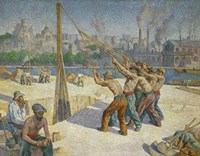 The Pile-drivers, Seine Quai, Billancourt, 1902-1903 Fine Art Print