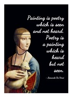 Painting is Poetry - Da Vinci Quote 1 Fine Art Print