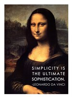 Simplicity is the Ultimate Sophistication -Leonardo Da Vinci Fine Art Print