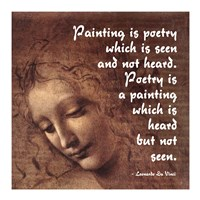 Painting is Poetry -Da Vinci Quote 2 Fine Art Print