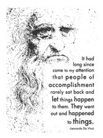 People of Accomplishment -Da Vinci Quote Fine Art Print