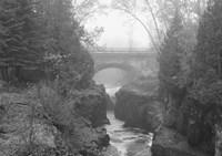 Bridge Over Rocks Black And White Fine Art Print