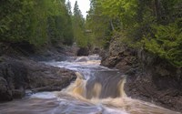 North Shore Rushing Water Fine Art Print