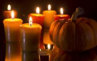 Pumpkins And Candles Fine Art Print