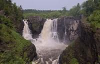 North Shore Rocky Waterfalls I Framed Print