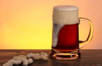 Beer Foam Running And Peanuts Fine Art Print