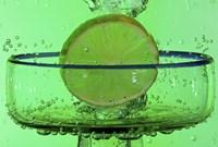 Margarita Glass And Lemon Splash Fine Art Print