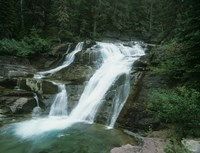Glacier National Park Waterfall 7 Fine Art Print