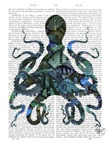 Fishy Blue Octopus Framed Print