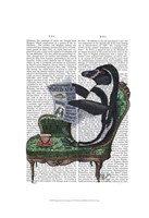 Penguin Reading Newspaper Fine Art Print